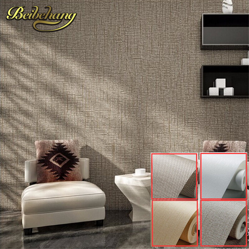 beibehang wallpaper High Quality Modern Wallpaper Simple texture Wall Paper for walls wall covering Roll Solid Color Beige,White<br>