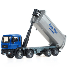 1/50 Scale Heavy Dump Truck Model Engineering Truck Alloy model Alloy Car Metal Vehicle Collectible Models toys For Gift(China)