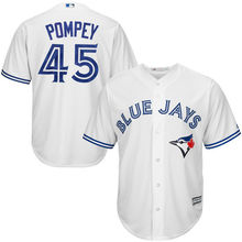 MLB Men's Toronto Blue Jays Dalton Pompey Baseball White Home Cool Base Player Jersey(China)