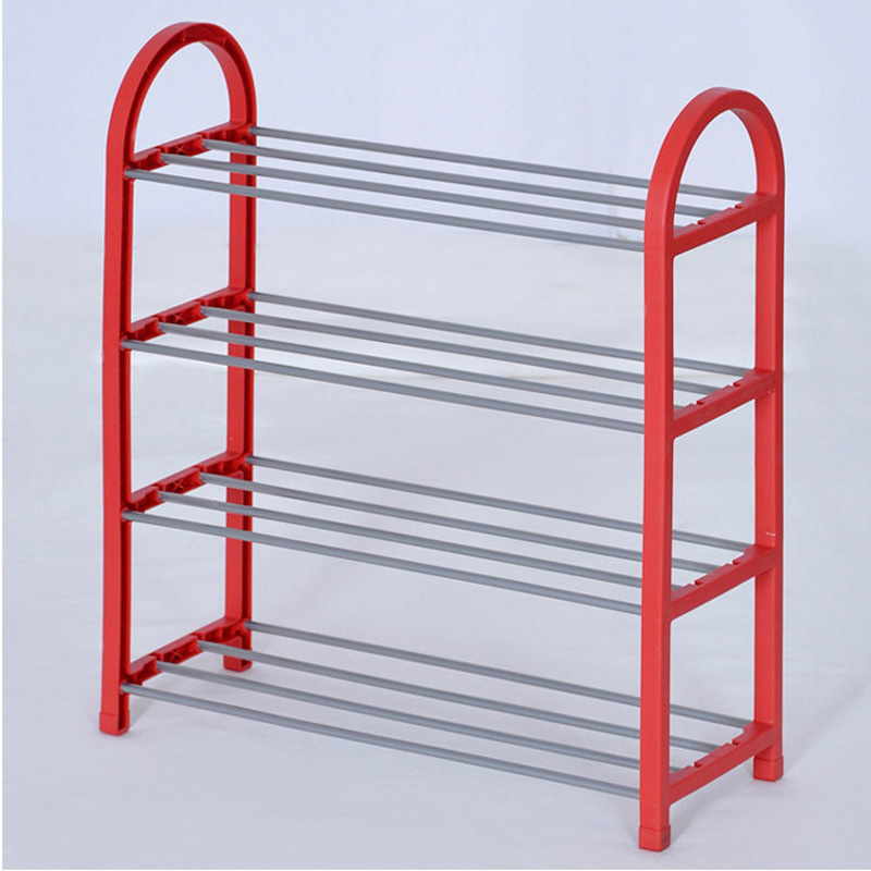 COSTWAY 4 Tier Shoes Rack Shoe Cabinets Stand Shelf Shoes Organizer Living Room Bedroom Storage Furniture W0191 4