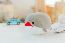 new creative gray shark toy cartoon new Foam particles shark doll gift about 20cm