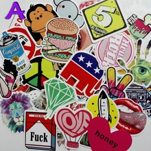 50pcs/lot mixed diamond rock waterproof home decor Doodle laptop motorcycle bike travel case decal Car accessories car sticker