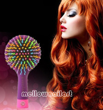 3 Colors Comb Magic Hair Brush Hair Salon Comb Rainbow Hairbrush Fashion Comb Anti-tangle Brush Massage
