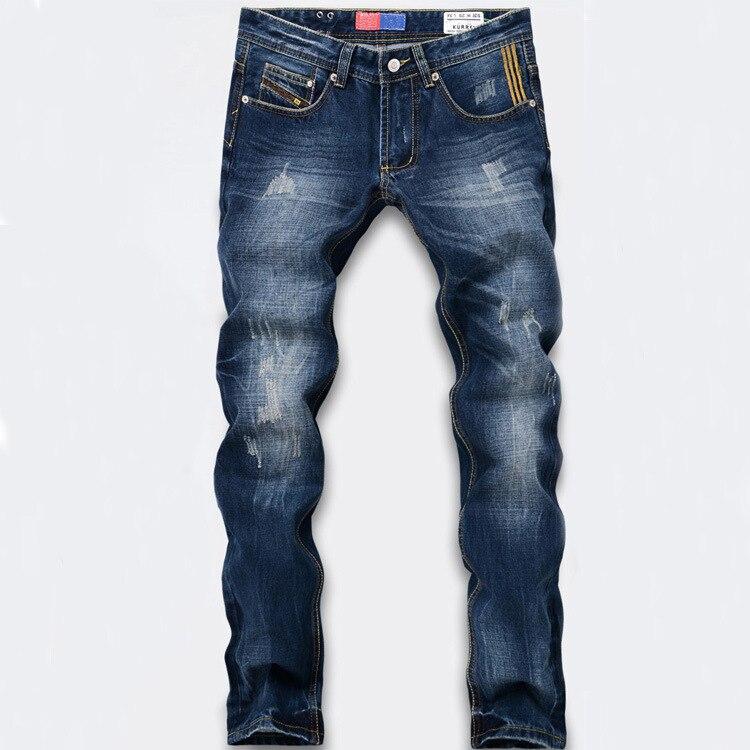 Hot Fashion Men Jeans New Arrival Design Slim Fit Fashion Jeans For Men Good Quality Blue Trousers 34-42Одежда и ак�е��уары<br><br><br>Aliexpress