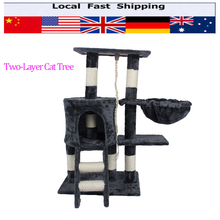 TWO-LAYER Hot Cat Jumping Toy with Ladder Scratching Wood Climbing Tree for Cat Climbing Frame Cat Furniture Scratching Post