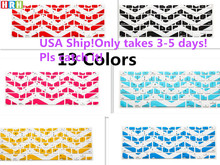 HRH Silicone Frame Waves Chevron Zig-Zag Keyboard Cover Keypad Skin For Old Apple Macbook Pro Air Retina 13 15 17All Before 2016(China)