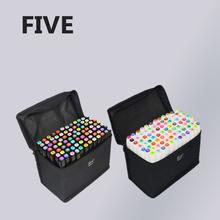 FIVE Generation Art Markers 12 Color Set Twin Oily Mark Pen Students Interior Design Art Markers(China)
