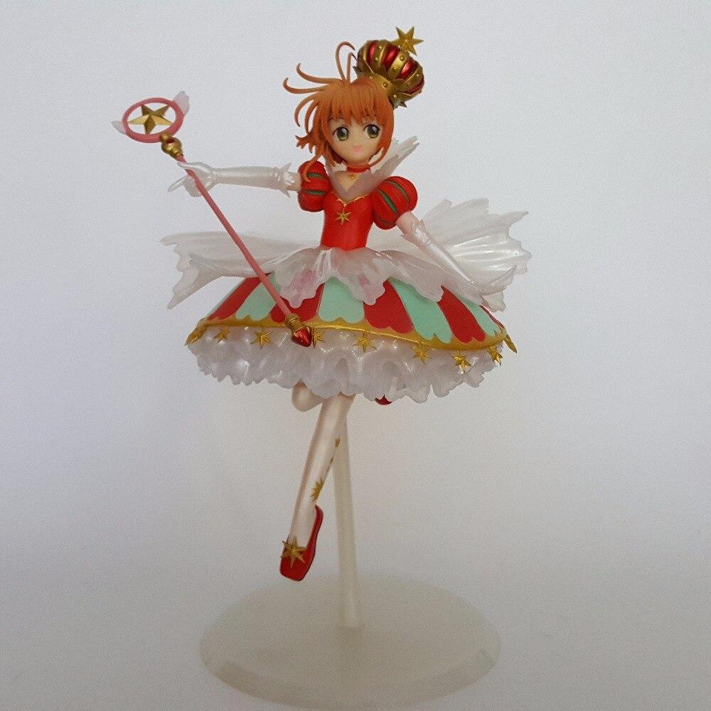 Sakura Card Captor Action Figures  15th anniversary Anime Cardcaptor Magic Girl Sakura 250mm Collectible Model Toys<br>