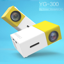YG300 Yellow Mini LCD Projector 400-600 Lumens 320 X 240 Pixels HD Video 3.5mm Audio Interface Home Projector Media Player(China)