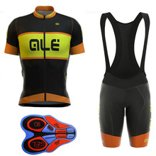 2017 ALE Summer Racing Cycling Jersey Ropa Ciclismo Cycling Clothing Bike Pro Sport Wear Gel Breathable Pad Bib Shorts Orange(China)