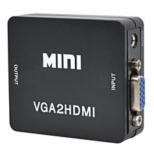 TSHRIC Mini VGA To HDMI Converter VGA2HDMI Adapter 1080P HDTV Video Converter Box With Audio Cable For Monitor PC Laptop