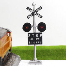 JTD876R 6pcs HO Scale  Railroad Crossing Signals 4 heads LEDs made Long Life 12v