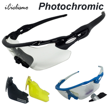Photochromic Cycling Eyewear 3 Lenses 2017 Men Women Polarized Outdoor Goggles MTB Sport Bike Glasses Bicycle Sunglasses