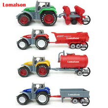 2015 New set toy farm cars Harvester agricultural tractors farm sowing sprinkler inertia model truck toy best friends for kids(China)