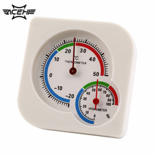 2017 Newest WS-A7 Multifunction Thermometer Indoor Outdoor Mini Wet Hygrometer Humidity Thermometer White Temperature Meter(China)