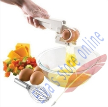 EZ Cracker Eggbeater Auto Egg stiring Separator Divider Cooking tools Kitchen helper tool(China)