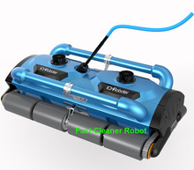 Commerical Use Robotic Automatic pool cleaner Icleaner-200D with 40m Cable For Big Pool Size( At least 1000m2) With Caddy cart(China)