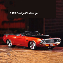 1:24  1970 Dodge Challenger R/T Orange Diecast Model Fast & Furious Character Car Without Light & Sound Car Kids Toys