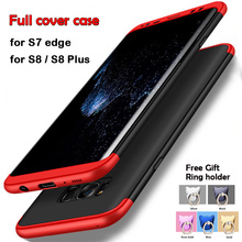 3in1 360 Degree Full Protection Case For Samsung Galaxy S7 Edge Case S8 Plus Cover Coque for Samsung Galaxy S8 case S8 Plus(China)
