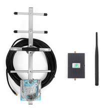 Verizon LTE 4G 700MHz Mobile Phone Signal Booster Repeater Amplifier with Indoor Whip Antenna and Outdoor GSM Yagi Antenna
