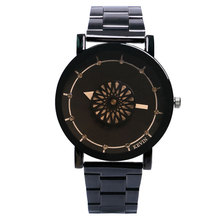 Relojes Mujer 2017 Luxury KEVIN Turntable Wrist Watches Men's Stainless Steel Black Quartz Watches Female Sport Casual Clock