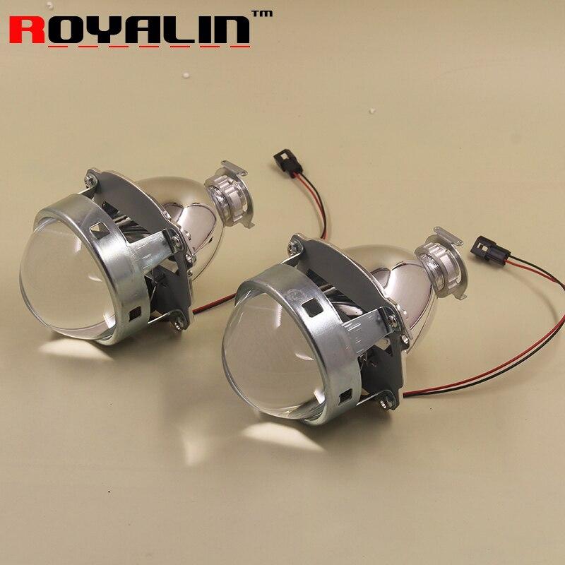 ROYALIN Car-styling HID H1 Bi Xenon Headlight Projector Lens 3.0 Inch Full Metal LHD RHD for H4 H7 9005 9006 Auto Light Retrofit<br><br>Aliexpress