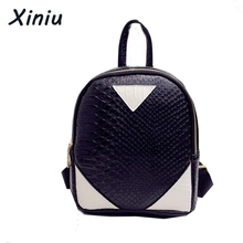 XINIU Rucksack Concise Serpentine Mochila Women Backpack For Girls Female Ladies Bag Cute Casual Zipper School Bags Back Pack