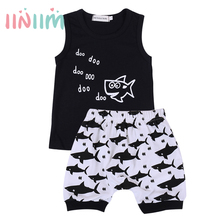 New Summer Baby Boys Clothing Cotton Sleeveless T-shirt Tops with Short Pants Children's Outfits Set for 6 Months - 4 Years