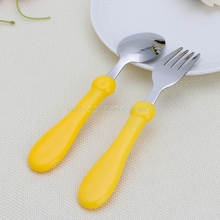 Baby Kids Cartoon Fork and Spoon Set Tableware Stainless Steel Forks + Spoons  #T026#