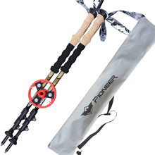 2pcs a lot Ultra-light 80% Carbon Fiber Nordic Walking Cane Walking Sticks Trekking Poles Telescopic Sticks Alpenstocks with bag