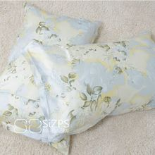 100% Mulberry silk pillow cases double sides pure silk fabric 75 X 50 cm printed Eco-Friendly comfortable pillowcase(China)
