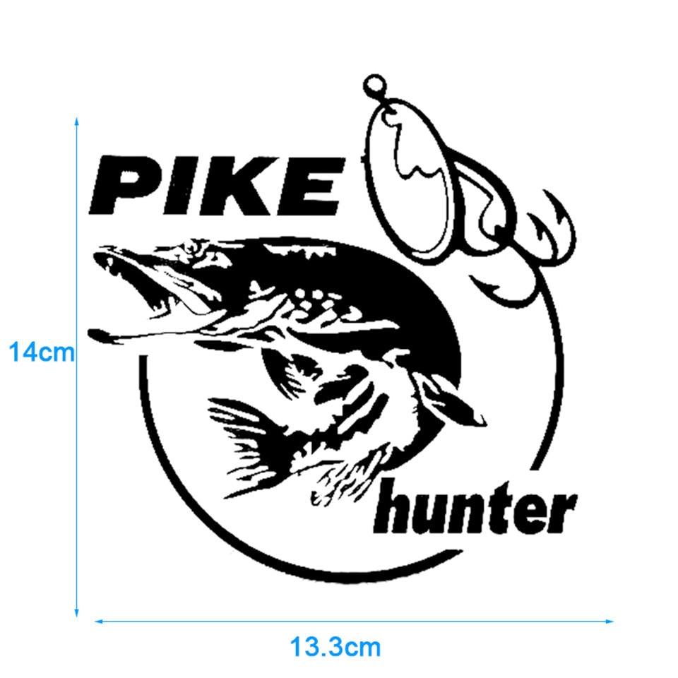 Cunymagos 13.3cm14cm Pike Hunter Fish Animal Car Sticker Vinyl Decal Decor (6)