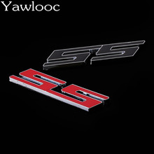 Yawlooc Car SS Metal Badge Emblem Red SS logo Decal Emblem Sticker for Chevrolet Strong Stereo Feeling Accessories Styling(China)