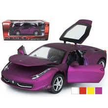 EFHH 1:32 Alloy Super Cars Vehicle Model Diecast Toy with Musical Flashing Pull Back Open Doors Educational Toys Gift 2121023(China)