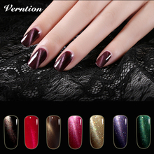 Verntion Magnetic Nail Polish for UV LED 3d Cat Eyes Magnet Nail Uv Glue Kits for The Gel Varnish with Lamp and Lacquers(China)