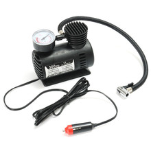 300 PSI Portable Mini 12V Air Compressor Auto Car Electric Bike Tire Inflator Pump with 2 Nozzle Adapters Bicycle Accessories