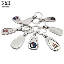 20Pcs For VW Lexus Buick Cadillac Chevrolet Mitsubishi Logo Auto KeyRing Metal KeyChain Badge Key Ring Emblem Key Holder Chain