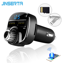 JINSERTA Car Styling Bluetoot FM Transmitter Car MP3 Audio Player FM Transmitter HandsFree TF USB Flash Drive music players(China)