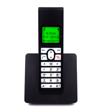 Russian English Spain GSM Cordless Support SIM Card Wireless Phone With SMS Backlight LCD Screen Fixed Telephone For Home Black(China)