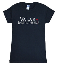 2017 summer 100% cotton VALAR MORGHULIS Game Of Thrones fashion t shirt women brand tops harajuku t-shirt women for movie fans