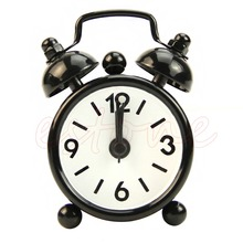Fashion Home Room Kid Teen Portable Mini Round Cute Dial Number Desk Alarm Clock(China)