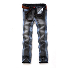 2014 rock mens jeans italian brands jeans for men straight men's denim trousers two color space 1018