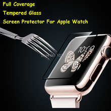 For 38mm / 42mm Apple Watch Full Coverage Tempered Glass Screen Protector Ultra Thin Explosion-proof Protective Film