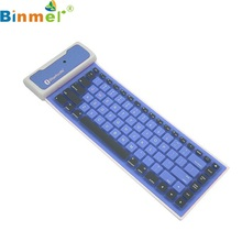 Beautiful Gift New Waterproof Wireless Fold Bluetooth Soft Keyboard For Apple For Samsung Wholesale price May18