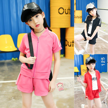 2017 New Design Girls Clothing Sets Baseball T-shirts + Shorts Kid Clothing Sets Sports Wear Children Clothing Sets Summer Syle