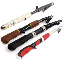 Mini Portable winter ice fishing rod 1.2m 1.4m 1.6m 2.1m short fishing rod pocket rod(China)