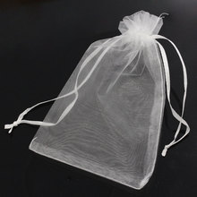 50PCs 10x15cm Organza Wedding Gift Jewelry Bags Pouches White Fine Gifts Package Storage Organizer(China)