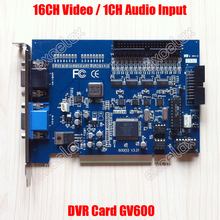 16CH Video 1CH Audio Input Digital Video Capture Card PCB 16 Channels CCTV PC DVR Video Record Card Security System GV600 V7.05