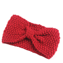 Hair accessories Winter Crochet Flower Bow Knitted Headwrap Headband Ear Warmer Hair Muffs Band Cai0552(China)