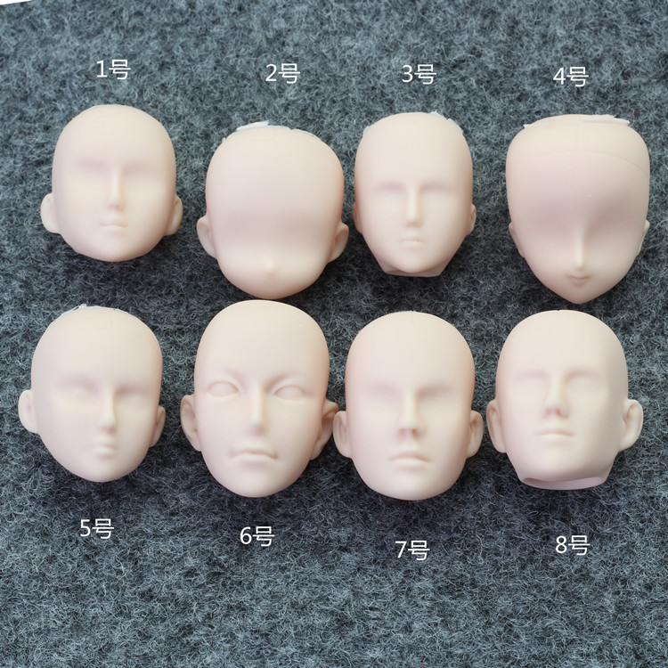 DIY 1//6 Doll Head Man Face without Hair Practising Soft Head